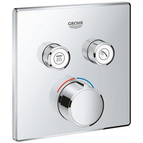 GROHE - Mitigeur encastré 2 sorties Grohe SmartControl - Façade carrée