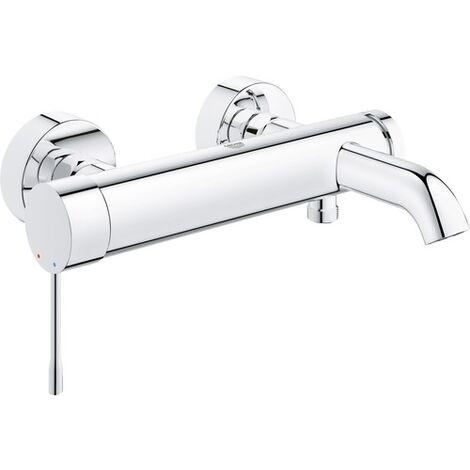 Grohe Mitigeur monocommande de baignoire Essence DN 15, montage mural, inverseur bain/douche automatique, Coloris: chrome - 33624001