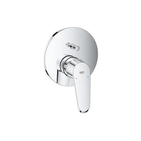 Grohe Mitigeur monocommande de baignoire Eurodisc-Cosmopolitan Kit de montage complet, changement automatique bain/douche - 24056002