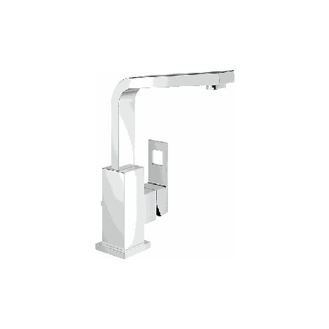 Grohe Mitigeur monocommande de lavabo Eurocube, taille L, sans limitation de débit, bec orientable - 23135000