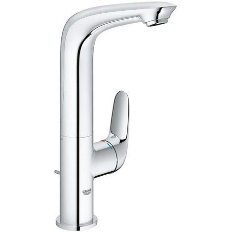 Grohe Mitigeur monocommande de lavabo Eurostyle, taille L avec vidage, béquille fermée, Coloris: Blanc Lune - 23718LS3