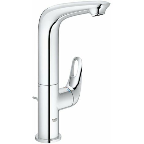 Grohe Mitigeur monocommande de lavabo Eurostyle, taille L avec vidage escamotable, béquille ouverte, Coloris: chrome - 23569003
