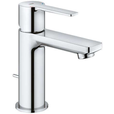 Grohe Mitigeur monocommande de lavabo linéaire XS-Size avec kit de vidange, Coloris: acier super - 32109DC1