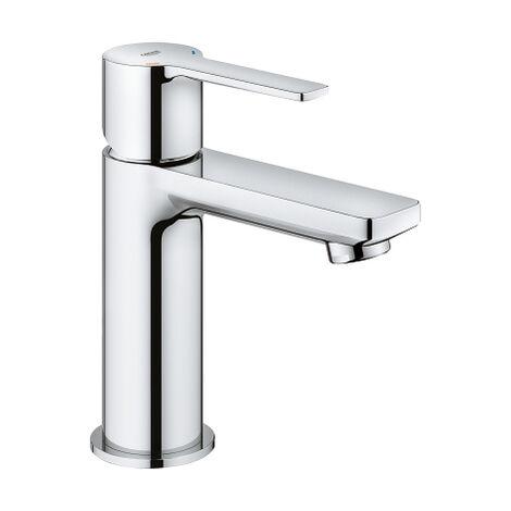Grohe Mitigeur monocommande de lavabo linéaire XS-Size, sans vidage escamotable, Coloris: acier super - 23791DC1