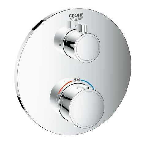 Grohe Mitigeur thermostatique Grohtherm 1 Abd. Installation finale pour Rapido SmartBox ronde chrome