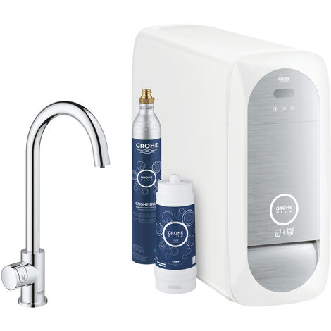 Grohe Mono Connected sink valve, with cooling device and filtration, chrome (31498001)