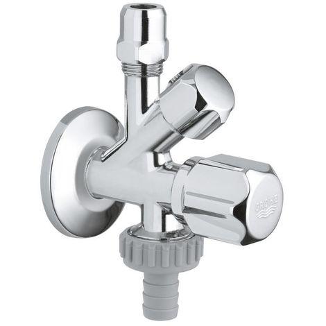 """Grohe Original WAS® combination service valve 1/2"""", Chrome (22035000)"""