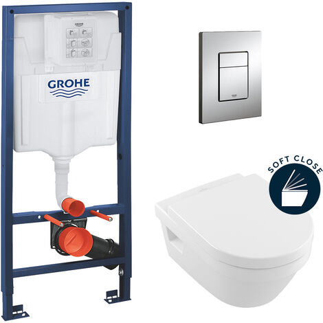 Grohe pack bâti-support Rapid Sl + cuvette Villeroy & Boch Architectura + abattant softclose (ArchitecturaGrohe1)