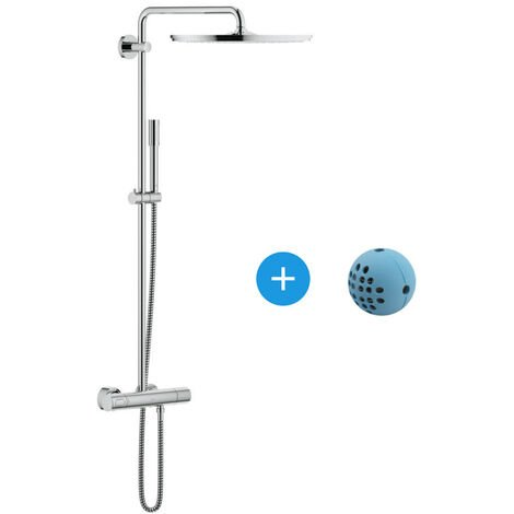 Grohe Pack Rainshower System 400 Colonne de douche thermostatique + IPS WashBall (27174001*)