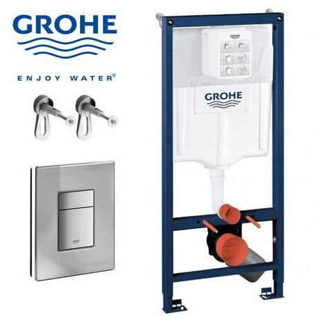 GROHE Pack Rapid SL 1,13m + Plaque + Raccordement + Fixations