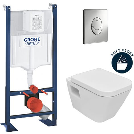 Grohe Pack WC Rapid SL autoportant + cuvette DG10 + plaque Skate Air chrome (ProjectDG10-2)