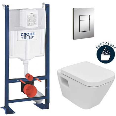 Grohe Pack WC Rapid SL autoportant + cuvette DG10 + plaque Skate Cosmo chrome (ProjectDG10-1)
