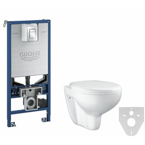 Grohe pack WC Rapid SLX autoportant avec cuvette rimless Bau Ceramic