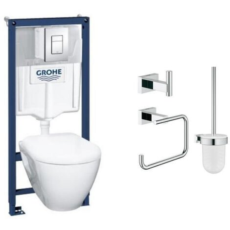 Grohe Pack wc suspendu Solido Compact + accessoires