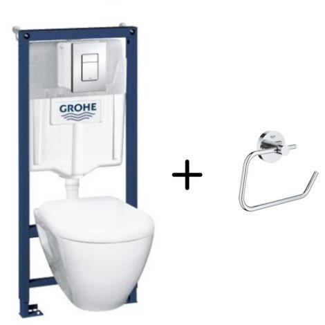 Grohe Pack wc suspendu Solido Compact + dérouleur