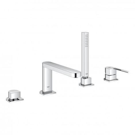GROHE Plus combinaison de baignoire à levier unique à 4 trous, avec douchette Euphoria Cube, 2 consommateurs, Coloris: chrome - 29307003