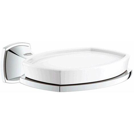 Grohe Porte-savon Grandera avec porte-savon en céramique, Coloris: chrome - 40628000