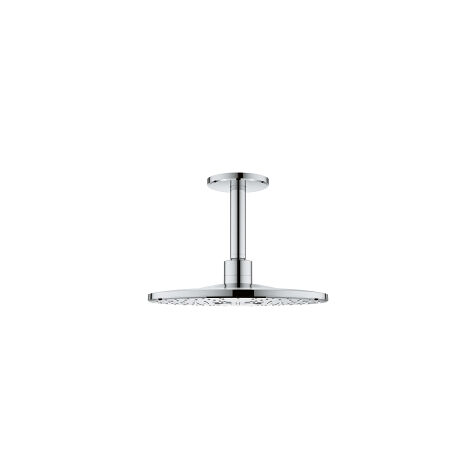Grohe Rainshower 310 SmartActive Ensemble de douche plafonnier Prise de douche au plafond 142 mm, 2 types de douchette, Coloris: chrome - 26477000