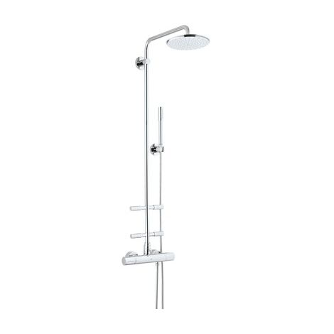 Grohe Rainshower shower system with Cosmopolitan 210 metal head shower and side showers - 27374000