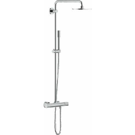 Grohe Rainshower shower system with Cosmopolitan 210 metal head shower and Sinea hand shower - 27032001