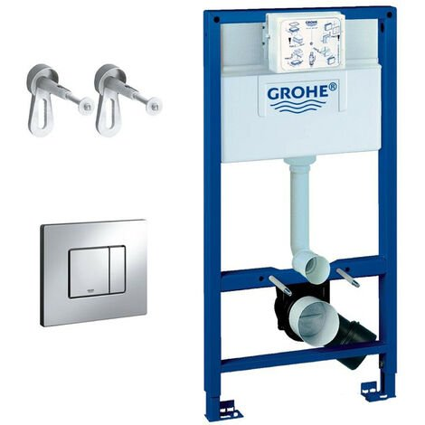 GROHE Rapid SL 0.98m 3 in 1 Set Concealed Cistern Frame Wall Hung WC Toilet
