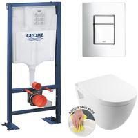Grohe Rapid SL + Bowl SM26 + soft close seat + Flush plate + Pad damping sound (AutoportantSM26)