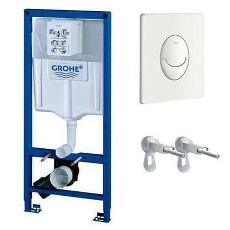 Grohe Rapid SL Ensemble de WC suspendu 113 cm supports muraux et plaque de chasse
