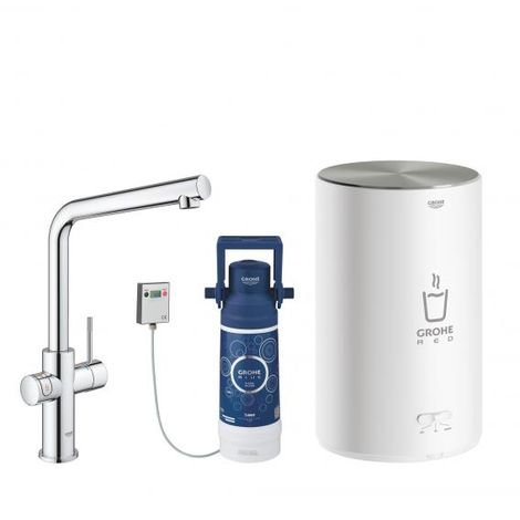 Grohe Red Duo tap and boiler size M, L-shaped spout