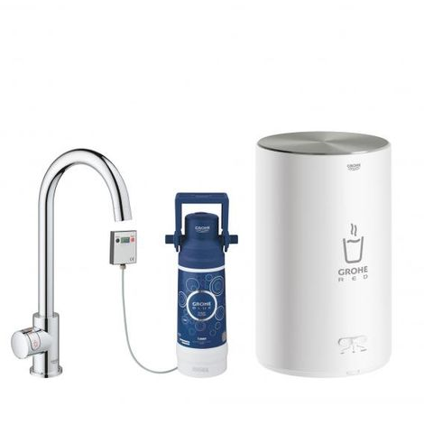 GROHE Red Mono pillar tap and boiler size M, C- spout