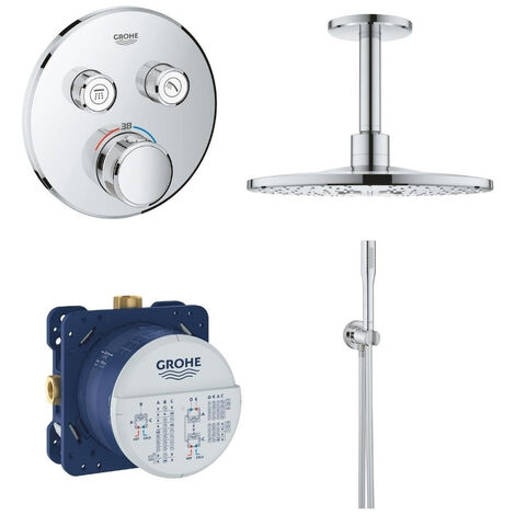 GROHE- Robinet douche thermostatique encastrable Grohe Grohtherm Smartcontrol