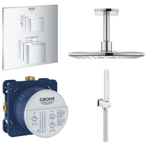 GROHE - Robinet douche thermostatique encastrable Grohtherm Cube