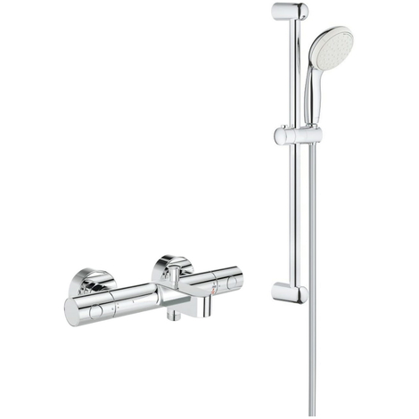 Grohe - Robinet thermostatique bain douche Cosmopolitan avec ensemble de douche complet 2 jets