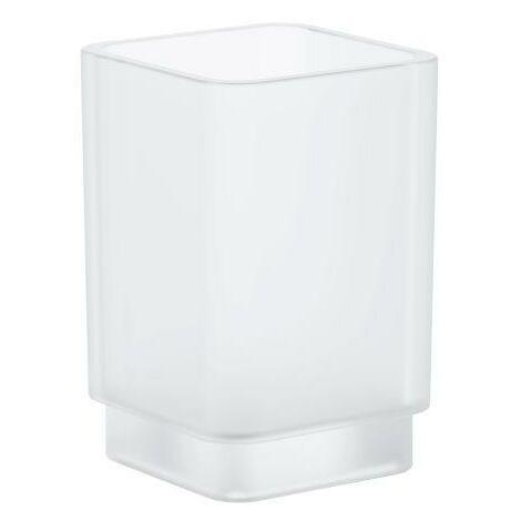 Grohe Selection Cube Verre en cristal, blanc satiné daVinci (40783000)