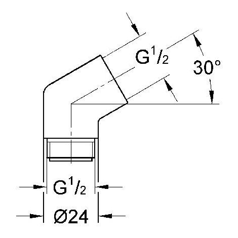GROHE Sena Adaptateur 1-2'' x 1-2 # 28389000