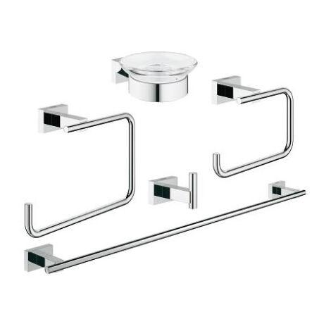 GROHE Set d accessoires Essentials Cube 40758001, chrome