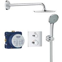 Grohe Set de douche Rainshower Cosmopolitan 210 avec thermostat encastré, chrome (34734000)