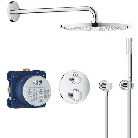Grohe Set de douche Rainshower Cosmopolitan 310 avec thermostat encastré, chrome (34731000)
