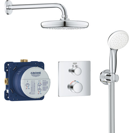 Grohe Set de douche Tempesta 210 avec thermostat encastré, chrome (34729000)