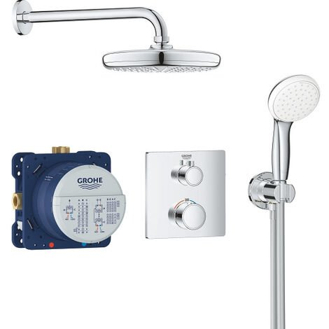 Grohe Set de douche Tempesta 210 avec thermostat encastré, chrome (34729000)