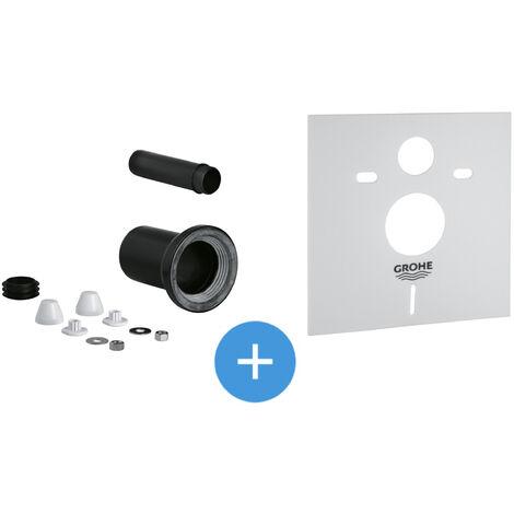 Grohe Set garniture de raccordement pour WC suspendu + Isolation phonique (37311K00-SET)