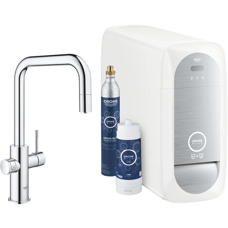 Grohe Sink battery Connected, with cooling device and filtration, chrome (31543000)