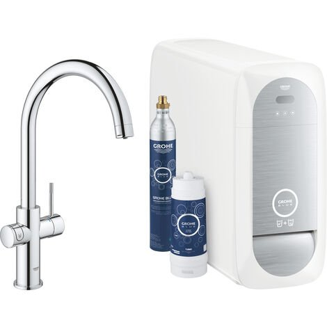 Grohe Sink battery Connected, with cooling device and filtration, chrome