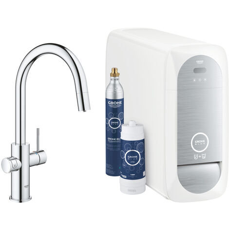 Grohe Sink battery Connected , with cooling device and filtration, chrome