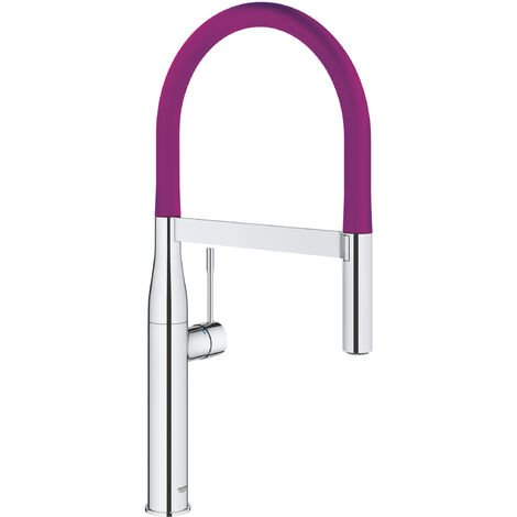 Grohe Sink battery with pull-out shower, chrome / purple (124977)