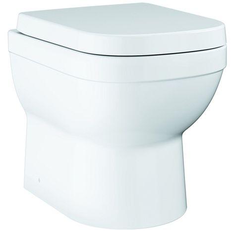 Grohe Stand-Tiefspül-WC Euro Keramik 39555 WC-Sitz mit Deckel alpinweiß, 39555000
