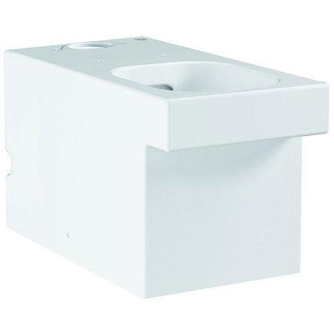 Grohe Stand-WC-Kombination Cube Keramik 39484 PureGuard ohne SPK alpinweiß, 3948400H