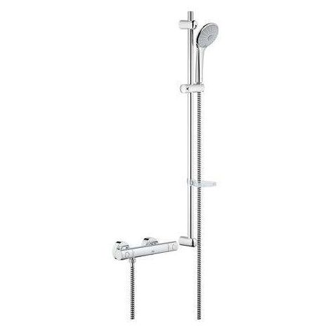 GROHE Thermostat-Brausebatterie Grohtherm 1000 C 34321 mit Euphoria-Br.-grt. 900mm chrom