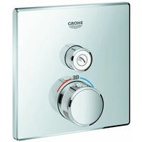 GROHE Thermostat Grohtherm SmartControl 29123 eckig FMS ein Absperrventil chrom