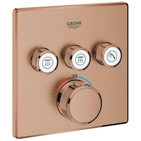 GROHE Thermostat Grohtherm SmartControl 29126 eckig FMS 3 ASV warm sunset gebürstet, 29126DL0
