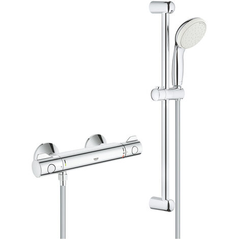 Grohe Thermostatic shower mixer with shower set 600 mm, chrome